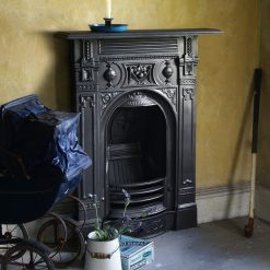 victorian small cast iron combination fireplace room