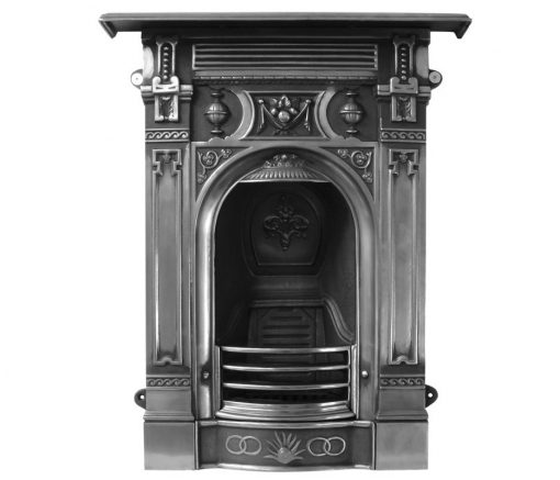 HEF043 Victorian fireplace - small cast iron Carron fireplace