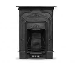 HEF247 Jasmine fireplace in black Victorian cast iron Carron fire