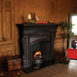 cast iron fireplace insert with surround
