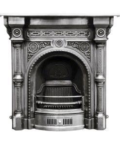 RX063 Carron Tweed Victorian cast iron fireplace polished