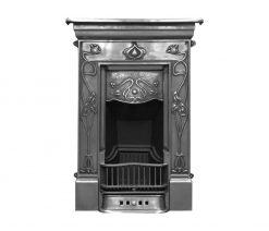 RX066 Crocus fireplace Victorian cast iron black detail