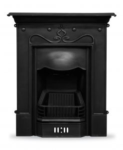 RX089 Tulip fireplace cast iron combination by Carron Edwardian cast iron Art Nouveau