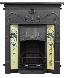 RX134 Carron Valentine fireplace cast iron Edwardian tiled black