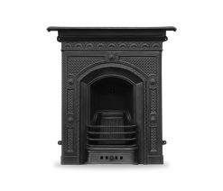 RX139 Hawthorne fireplace Georgian cast iron fire in black finish by Carron