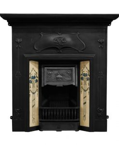 RX246 Verona fireplace Edwardian cast iron Carron fire black