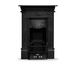 RX247 Crocus fireplace Victorian cast iron black detail