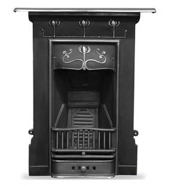 Carron Abbot fireplace cast iron fire highlighted HEF192