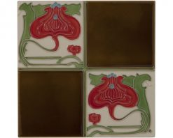 Victorian fireplace tiles LGC029 tube lined
