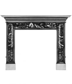 RX112 Carron Mayfair fireplace surround in polished cast iron