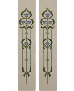 Tubelined Victorian fireplace tiles LGC011