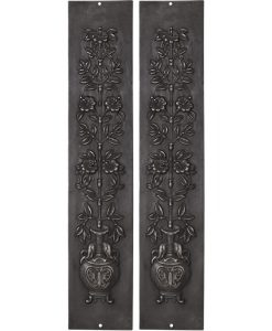 Victorian cast iron fireplace panels RX081
