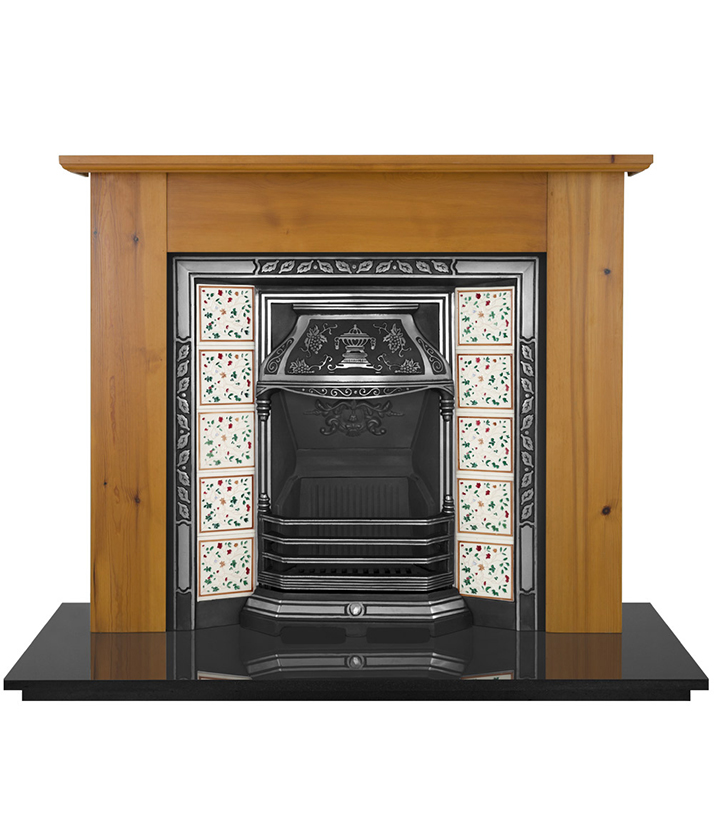 Laurel Tiled Fireplace Insert Pendragon Fireplaces