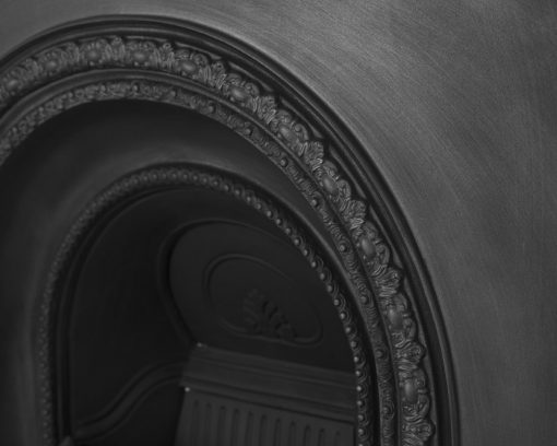 Scotia cast iron fireplace insert RX087 arch detail