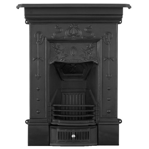 Bella combination fireplace - small cast iron black HEF360