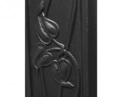 Crocus fireplace Victorian cast iron black detail