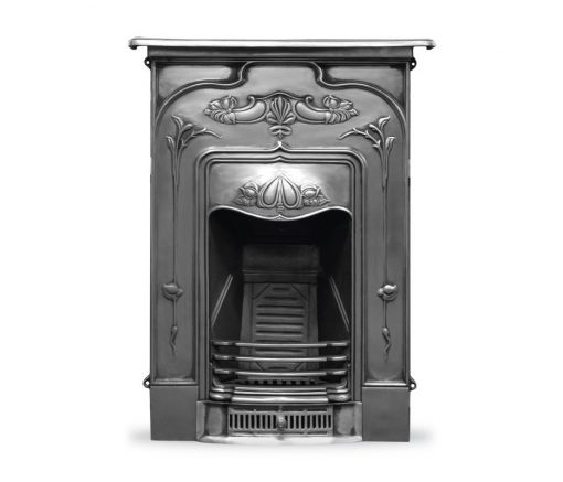 HEF044 Jasmine fireplace in polished Victorian cast iron by Carron