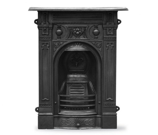 HEF246 Victorian cast iron fireplace - small cast iron Carron fireplace