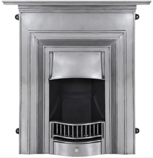 HEF353 Oxford fireplace combination Victorian cast iron by Carron polished