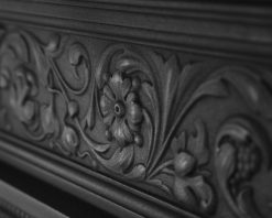 Hamden victorian cast iron fireplace RX163 frieze detail