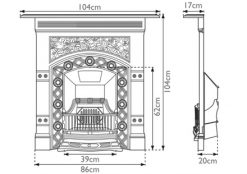 Jekyll fireplace combination victorian cast iron sizes