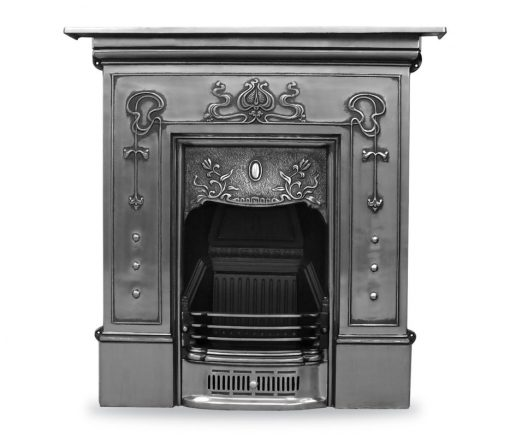 RX060 Bella fireplace Victorian period Carron cast iron polished fire - The Bella cast iron fireplace