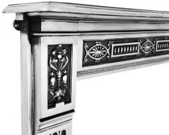 RX065 Albert victorian cast iron fireplace mantel surround detail