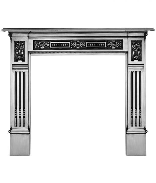 RX065 Albert victorian cast iron fireplace mantel surround polished