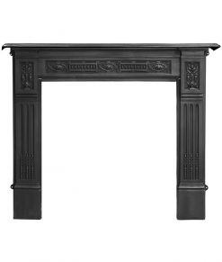 RX121 Albert Victorian cast iron fireplace mantel surround black