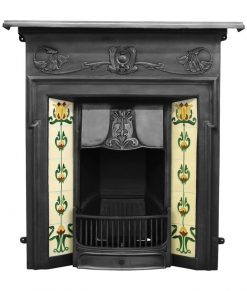 RX132 Morris fireplace cast iron art nouveau by Carron black