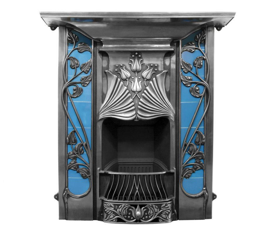 toulouse fireplace cast iron combination pendragon fireplaces rh pendragonfireplaces net art nouveau fireplace for sale art nouveau fireplace fender