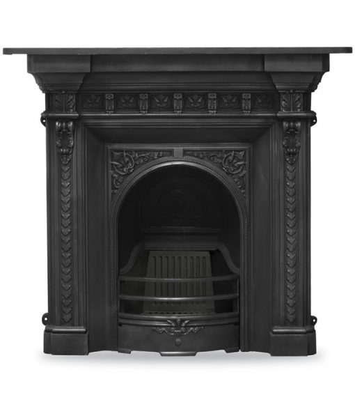 rx249 melrose fireplace victorian cast iron carron combination black