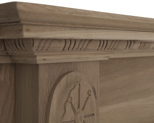 Asleigh fireplace surround mantelpiece in oak unfinished - SMC094 Carron shelf