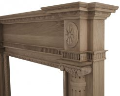 Asleigh fireplace surround mantelpiece in oak unfinished - SMC094 Carron frieze