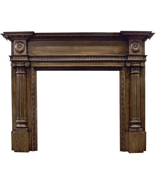 Asleigh fireplace surround mantelpiece in oak distressed - SMC095 Carron
