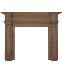 Asleigh fireplace surround mantelpiece in oak unfinished - SMC094 Carron