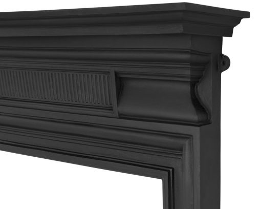 Belgrave cast iron fire surround mantelpiece detail