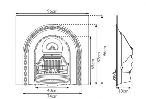 Ce Lux fireplace insert cast iron sizes