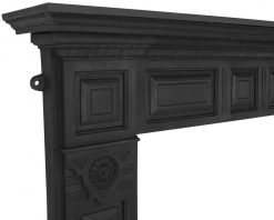 HEF311 Carron Hampton cast iron fire surround detail