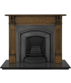 London Plate fireplace insert Carron cast iron RX092