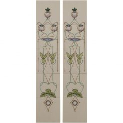 Tubelined Victorian fireplace tiles LGC015