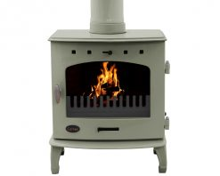 carron stoves 7.3kw wood burning enamel sage green enamel bhc143