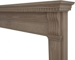 Corbel fireplace surround unwaxed oak FRM010 detail