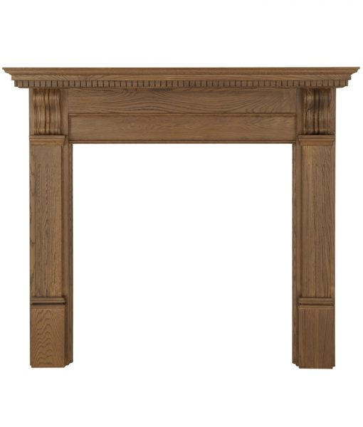 Corbel fireplace surround waxed oak FRM011