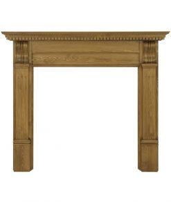 Corbel fireplace surround waxed pine SMC007