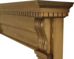Corbel fireplace surround waxed pine SMC007 detail