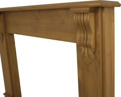 Edinburgh corbel fireplace surround waxed pine SMC011 detail