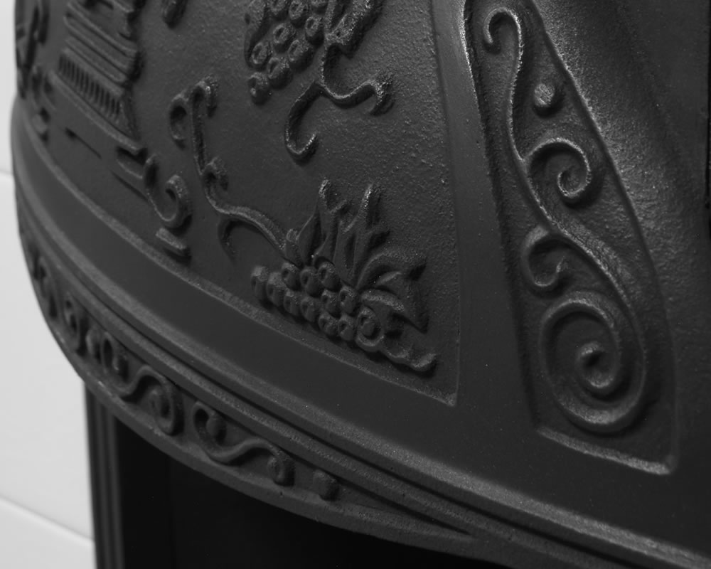 Cast iron fireplace cleaning