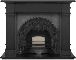 Rococo cast iron fireplace insert RX263